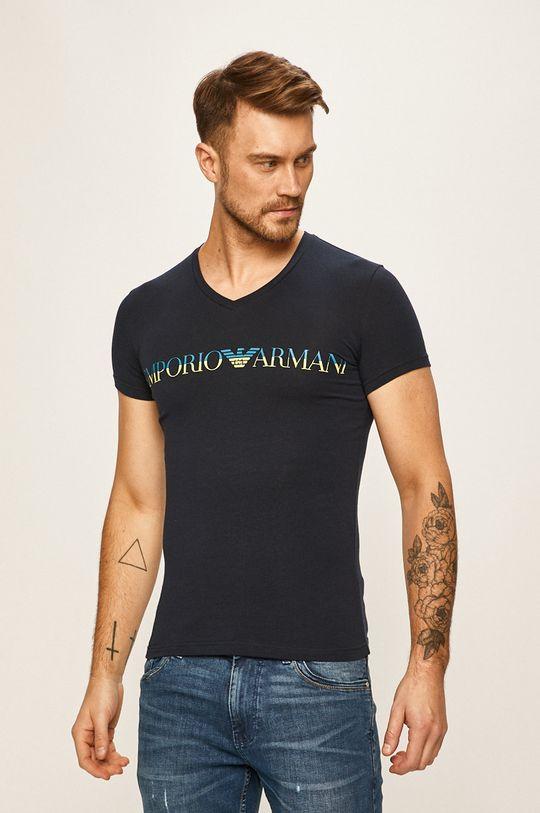 tmavomodrá Emporio Armani - Pánske tričko Pánsky