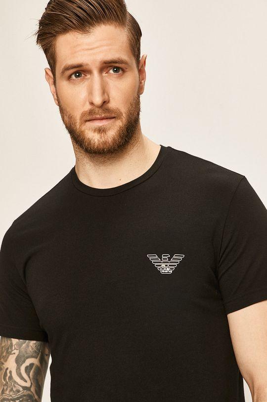 čierna Emporio Armani - Pánske tričko