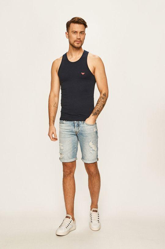 Emporio Armani - Pánske tričko tmavomodrá