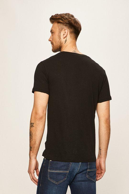 Emporio Armani - T-shirt 45 % Bawełna, 55 % Len