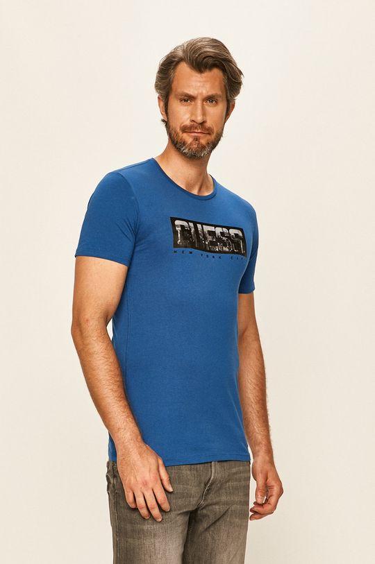 modrá Guess Jeans - Tričko Pánský