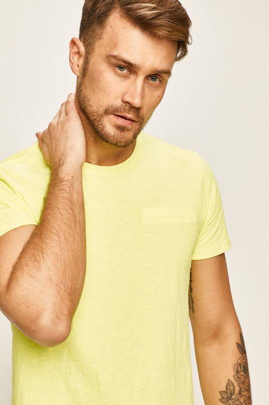 žltá Guess Jeans - Pánske tričko