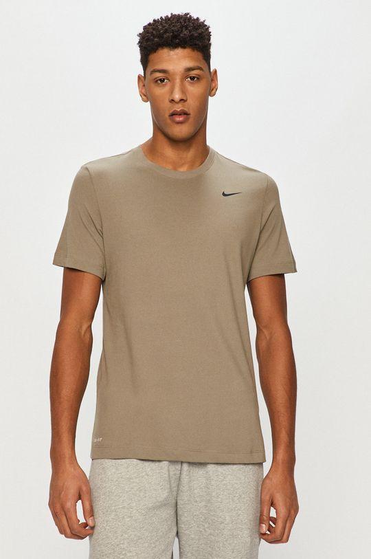 hnedo zelená Nike - Tričko Pánsky