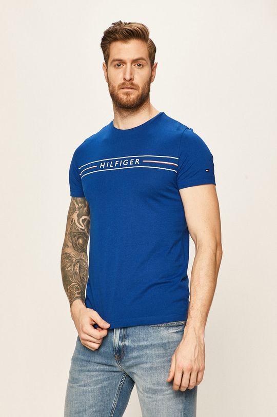 granatowy Tommy Hilfiger - T-shirt Męski