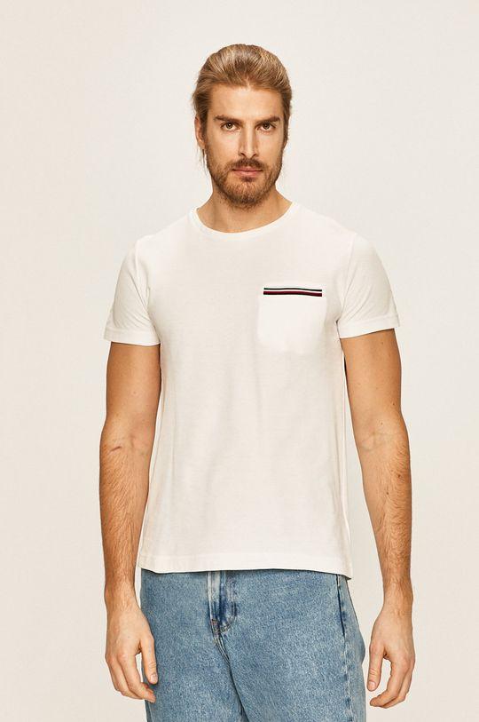 biela Tommy Hilfiger - Pánske tričko Pánsky
