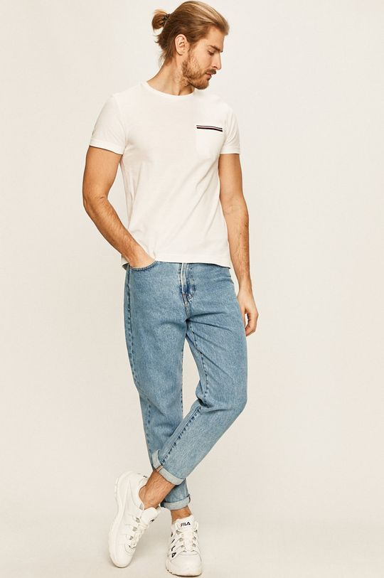Tommy Hilfiger - Pánske tričko biela
