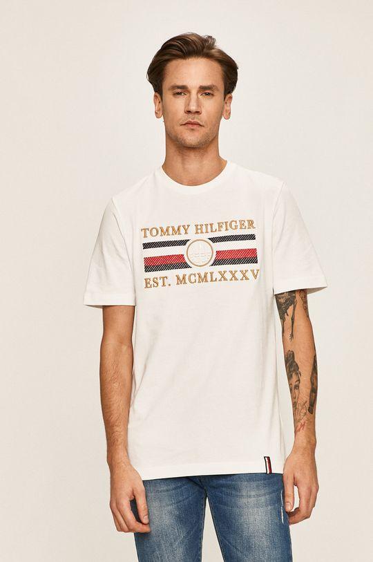 alb Tommy Hilfiger - Tricou