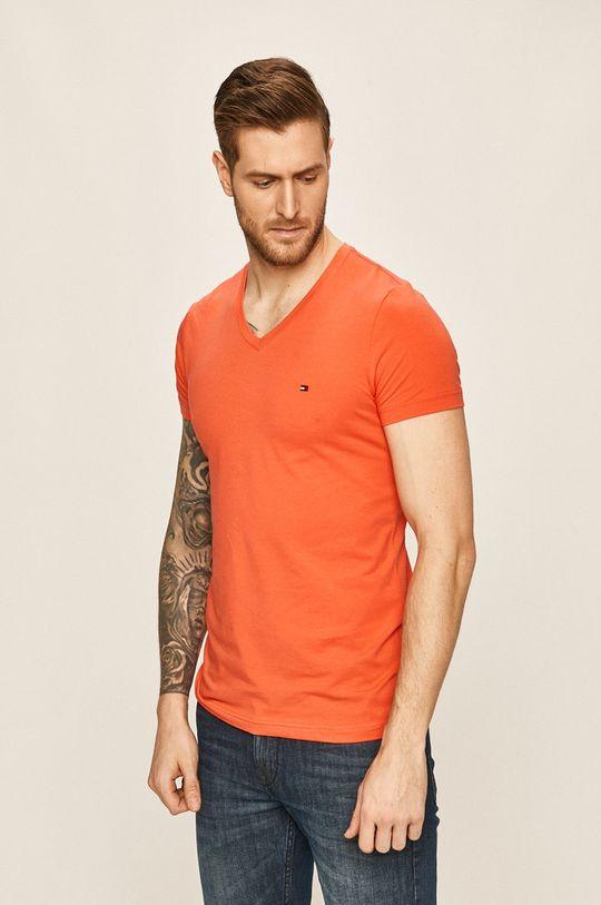 mandarynkowy Tommy Hilfiger - T-shirt