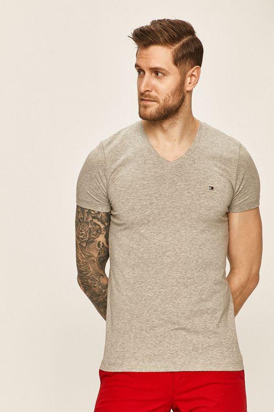 szary Tommy Hilfiger - T-shirt Męski