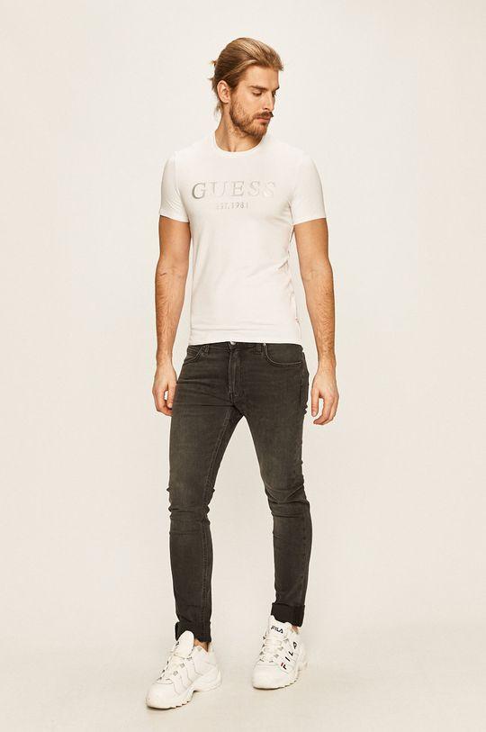 Guess Jeans - Pánske tričko biela