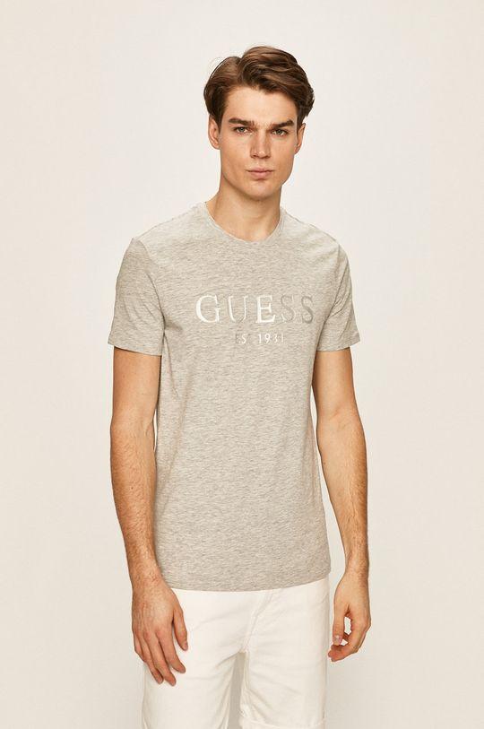 svetlosivá Guess Jeans - Pánske tričko Pánsky