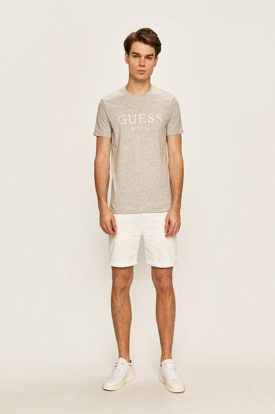 Guess Jeans - Pánske tričko svetlosivá