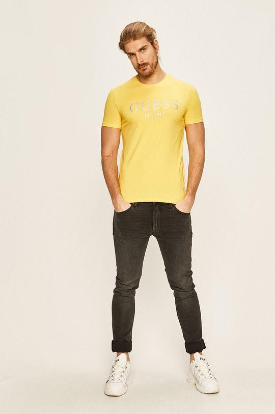 Guess Jeans - Pánske tričko žltá