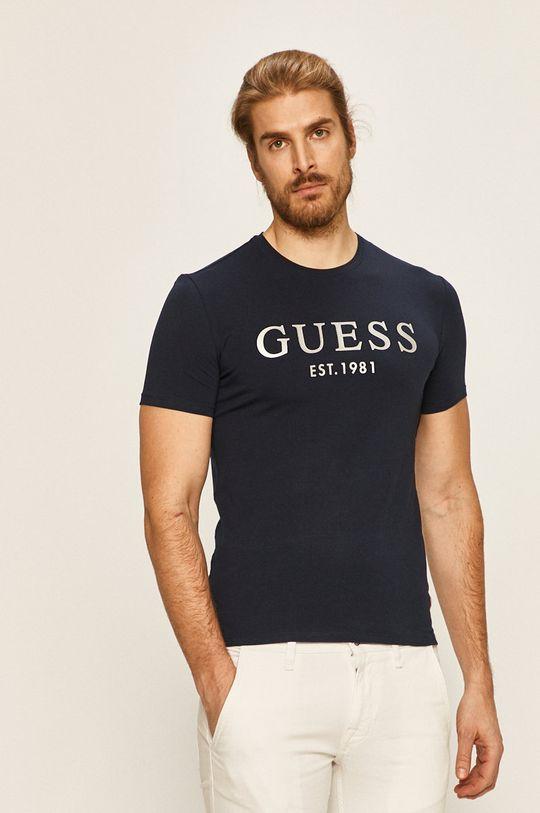 tmavomodrá Guess Jeans - Pánske tričko Pánsky