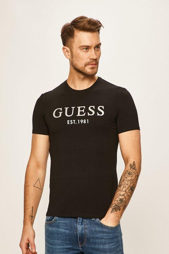 čierna Guess Jeans - Pánske tričko Pánsky