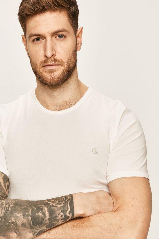 biela Calvin Klein Underwear - Pánske tričko CK One (2 pak) Pánsky