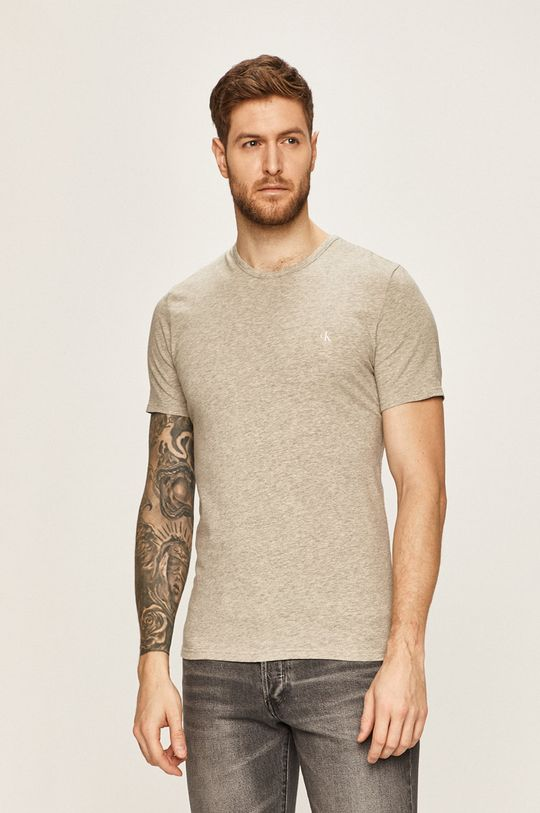 czarny Calvin Klein Underwear - T-shirt CK One (2 pack) Męski