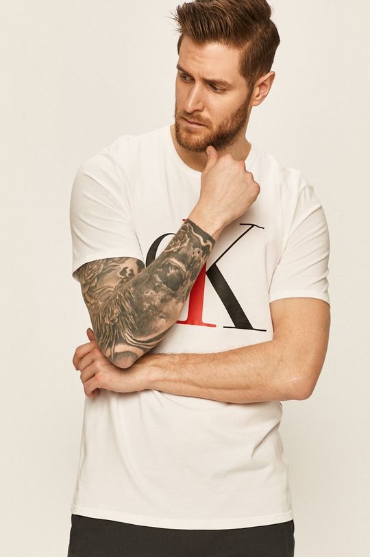 biały Calvin Klein Underwear - T-shirt CK One Męski