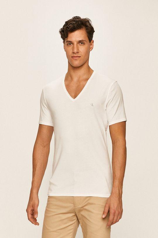 bílá Calvin Klein Underwear - Tričko (2-pack) Pánský