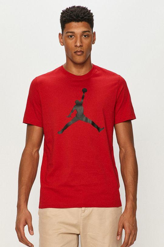 czerwony Jordan - T-shirt Męski