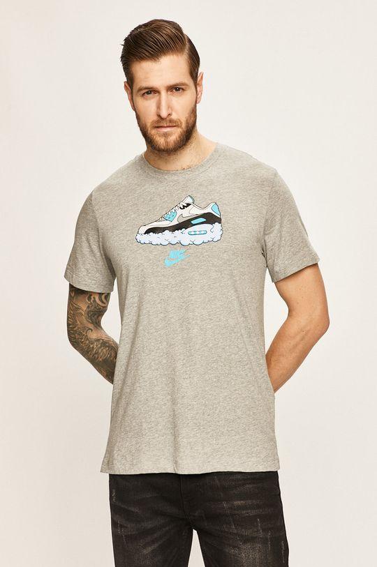 šedá Nike Sportswear - Tričko Pánský