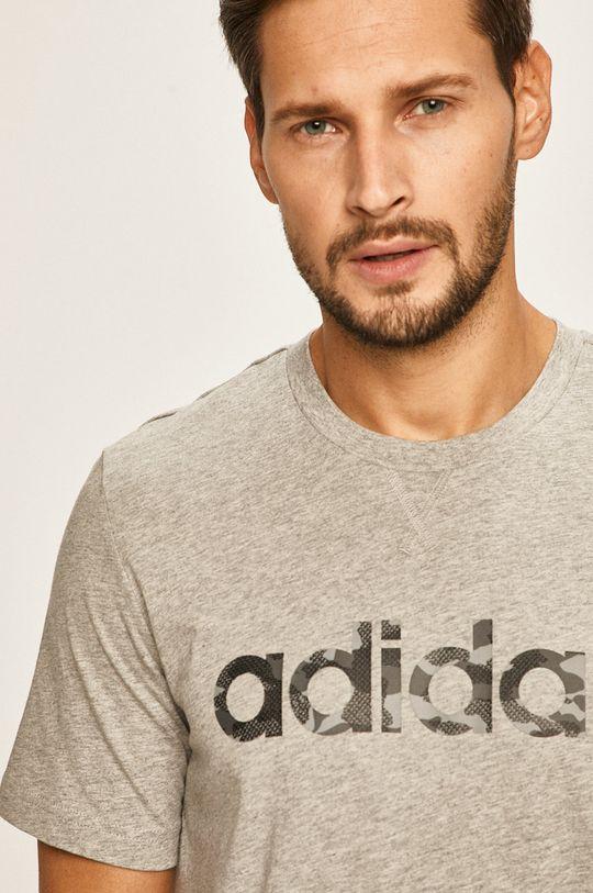 světle šedá adidas - Tričko