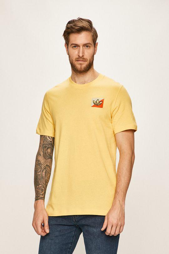 žlutá adidas Originals - Tričko Pánský