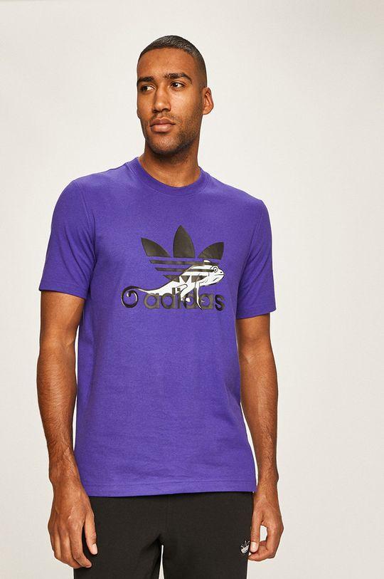 fioletowy adidas Originals - T-shirt Męski