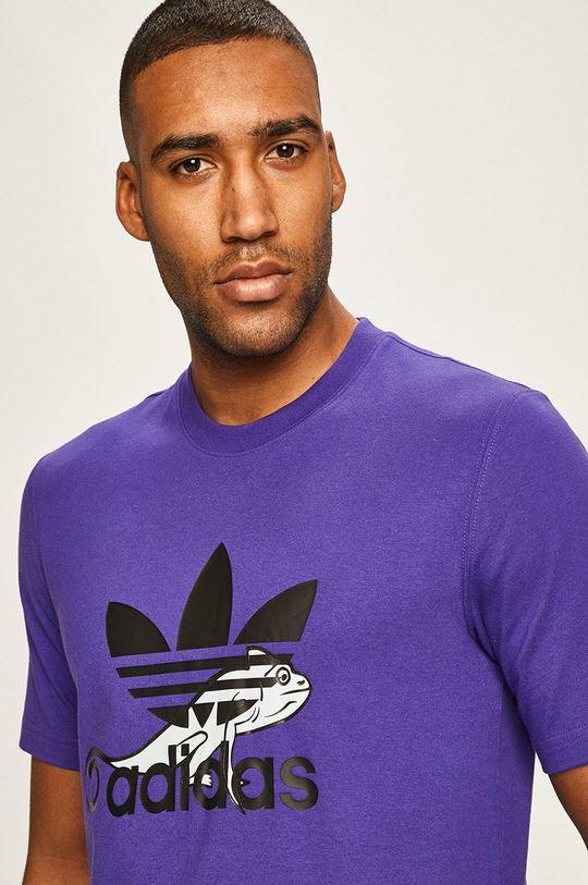 fioletowy adidas Originals - T-shirt