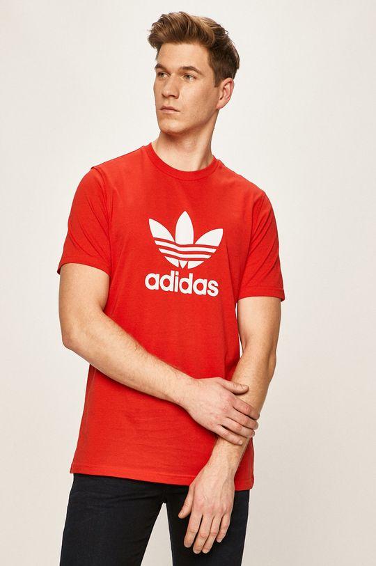 červená adidas Originals - Tričko Pánský