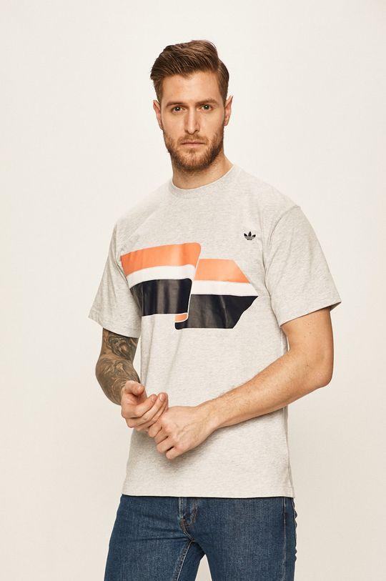 světle šedá adidas Originals - Tričko Pánský