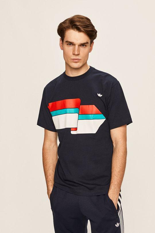 tmavomodrá adidas Originals - Pánske tričko Pánsky
