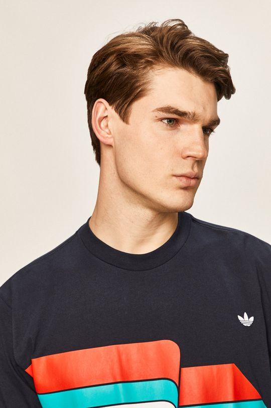 tmavomodrá adidas Originals - Pánske tričko