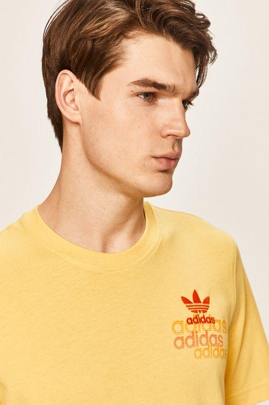 žltá adidas Originals - Pánske tričko