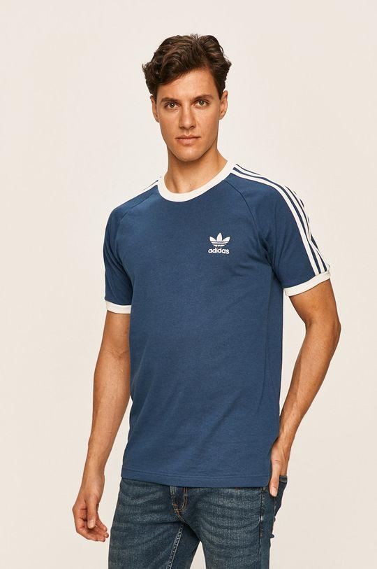 ocelová modrá adidas Originals - Tričko Pánský