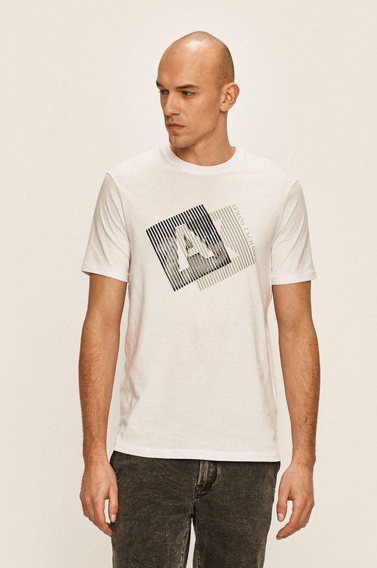бял Armani Exchange - Тениска Чоловічий