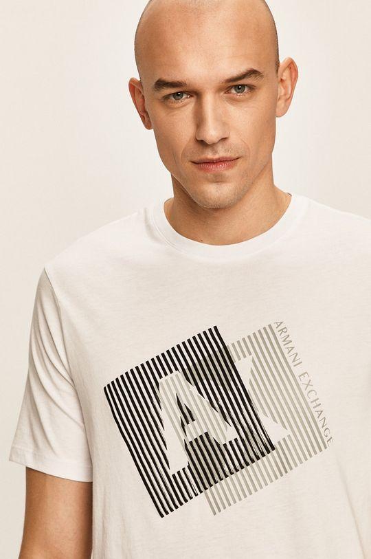 бял Armani Exchange - Тениска