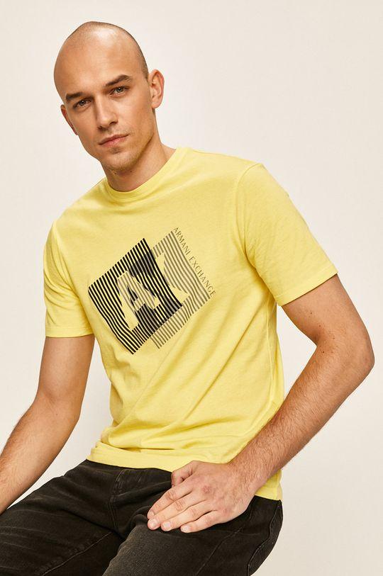 жълт Armani Exchange - Тениска Чоловічий
