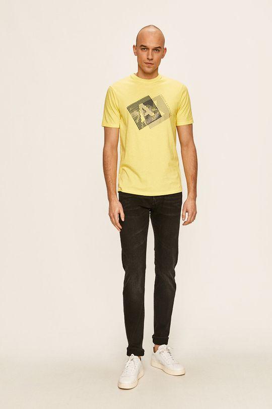 Armani Exchange - Тениска жълт