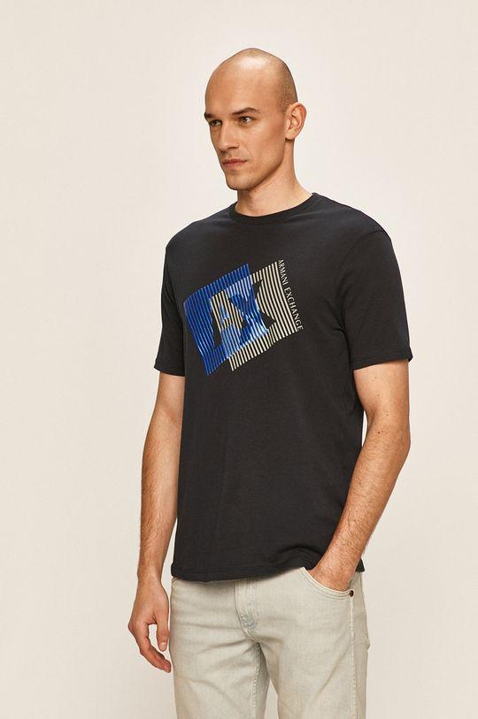 тъмносин Armani Exchange - Тениска Чоловічий