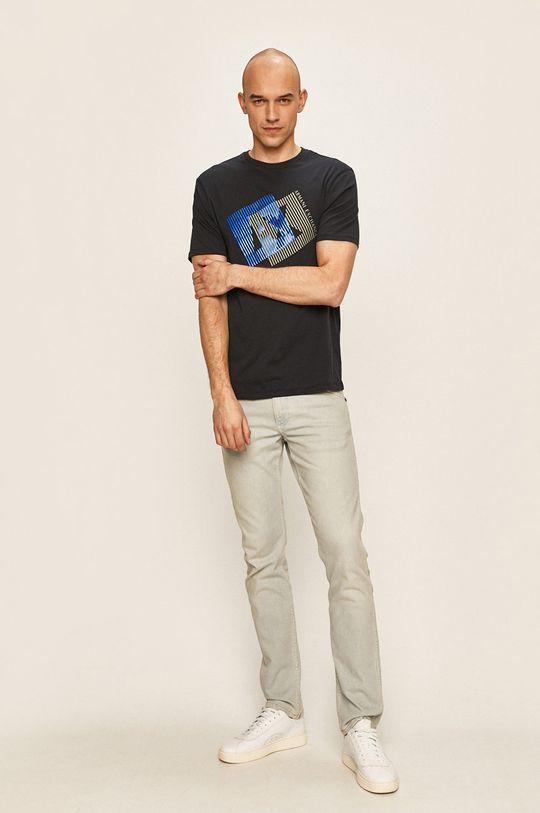 Armani Exchange - Тениска тъмносин