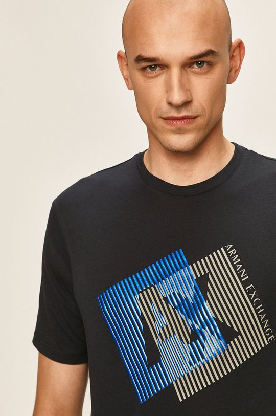 тъмносин Armani Exchange - Тениска