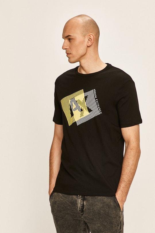 черен Armani Exchange - Тениска Чоловічий
