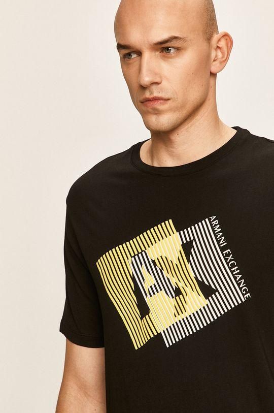 черен Armani Exchange - Тениска