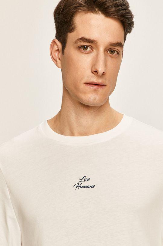 biela Tommy Hilfiger - Pánske tričko s dlhým rukávom x Lewis Hamilton