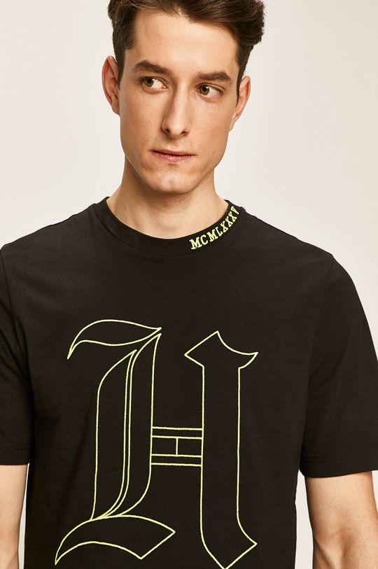 čierna Tommy Hilfiger - Pánske tričko X Lewis Hamilton Pánsky
