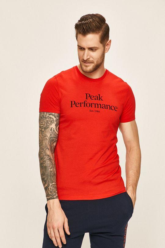 červená Peak Performance - Tričko Pánský
