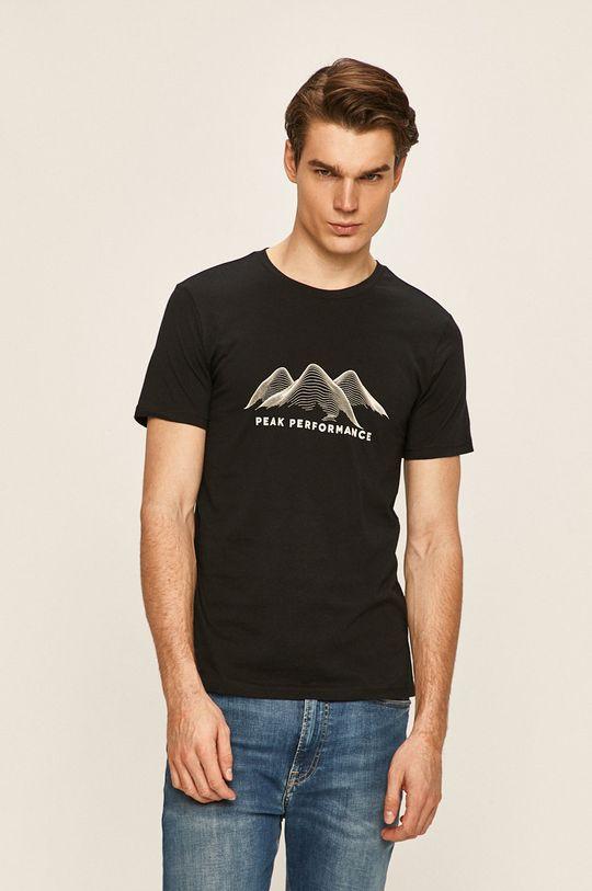 černá Peak Performance - Tričko Pánský