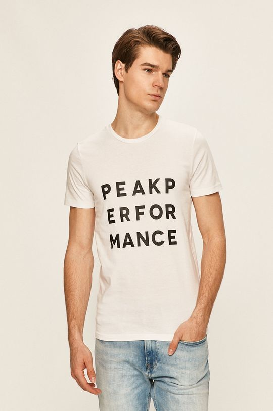 bílá Peak Performance - Tričko Pánský