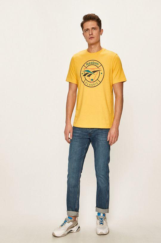 Reebok Classic - T-shirt żółty